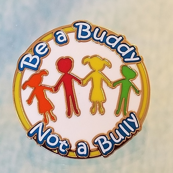Pinmart Jewelry - 5/$25 NWT Be a Buddy Not a Bully Pin Gold Red Grn